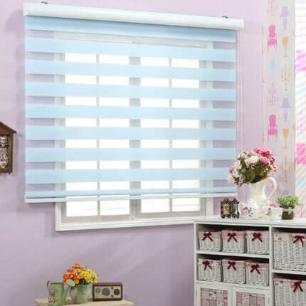 Striped Light-Softener Curtain