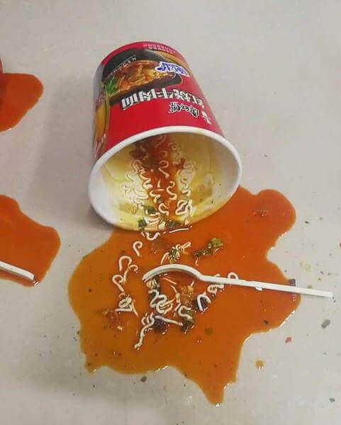Spilled Soup Prank